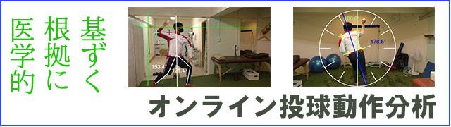 オンライン投球動作分析