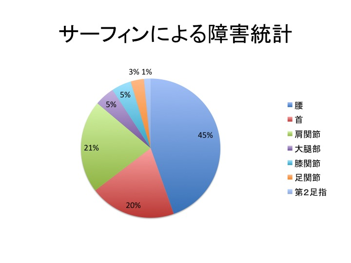サーフィンによる障害統計